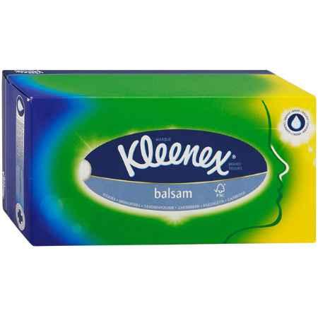 Купить Kleenex Бумажные салфетки Kleenex BALSAM с экстрактом календулы 3-х слойные 80 шт