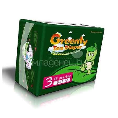 Купить Greenty Подгузники Greenty Econom 6 -11 кг (48 шт) Размер 3