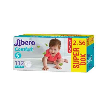 Купить Libero Подгузники Libero Comfort Maxi+ 10-16 кг (112 шт) Размер 5
