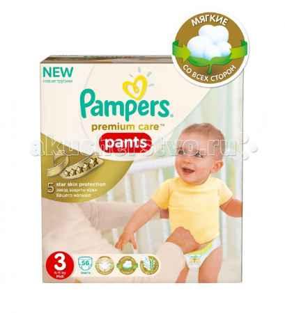 Купить Pampers Подгузники-трусики Premium Care Pants Midi р.3 (6-11 кг) 56 шт.