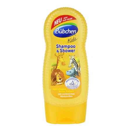 """Купить Bubchen Bubchen Kids Шампунь для волос и тела """"Сафари"""" 230 мл"""