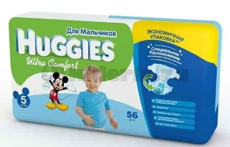 Купить Huggies Подгузники Ultra Comfort 5 для мальчиков, 12-22 кг