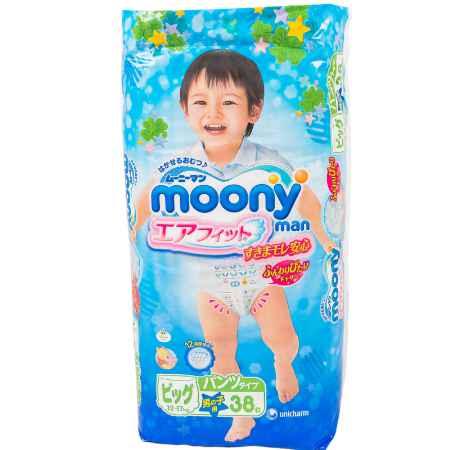 Купить Moony Трусики Moony для мальчиков 12-17 кг (38 шт) Размер BIG