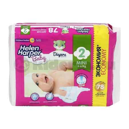 Купить Helen Harper Детские подгузники Baby Mini 3-6 кг, 78 шт