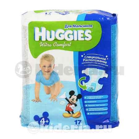Купить Huggies Подгузник Ультра Комфорт 4+, для мальчиков, 10-16 кг