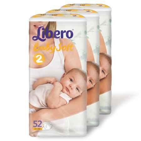 Купить Libero Набор Libero из 3-х пачек 3-6 кг (52 шт) Размер 2