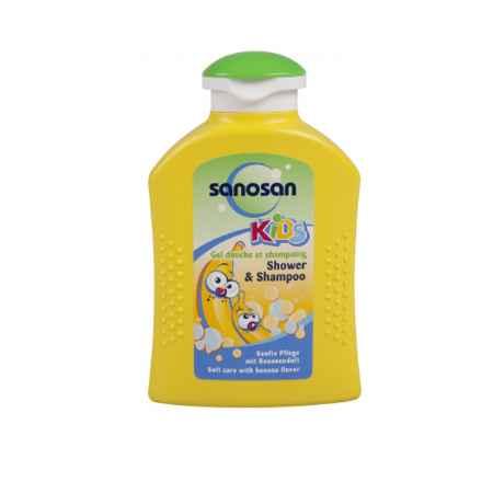 Купить Sanosan Sanosan Baby гель для душа и шампунь с араматом банана 0,200 мл
