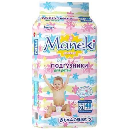 Купить Maneki Подгузники Maneki Fantasy 12 кг (48 шт) Размер XL