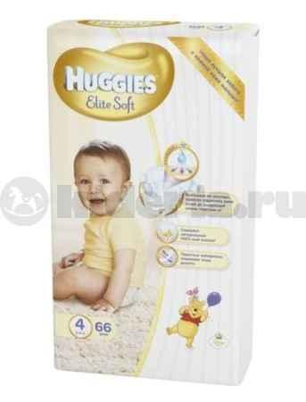Купить Huggies Подгузники Элит Софт 4, 8-14 кг
