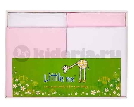 Купить Little me Комплект из 4-х трикотажных пеленок  (2 теплых и 2 тонких)*