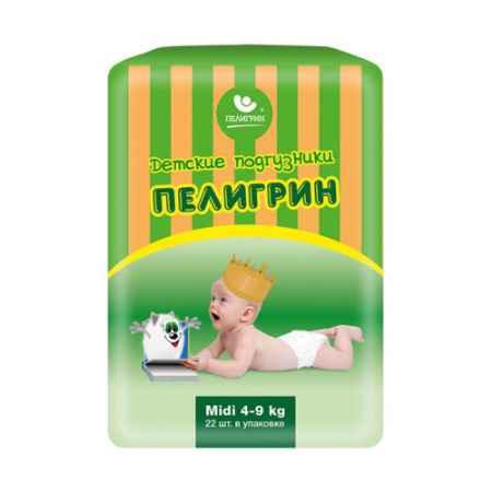 Купить Пелигрин Подгузники Пелигрин Midi 4-9 кг (22 шт)