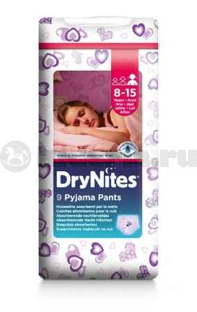 Купить Huggies Ночные трусики Драй Найтс 1/3 для девочек 8-15 лет,  27-57 кг