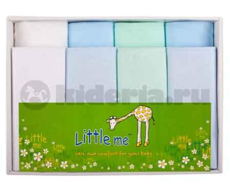 Купить Little me Комплект из 8-ми пеленок  (4 фланель и 4 батист)