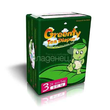 Купить Greenty Подгузники Greenty 6-11 кг (24 шт) Размер 3