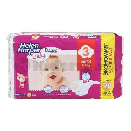 Купить Helen Harper Детские подгузники Baby Midi 4-9 кг, 70 шт