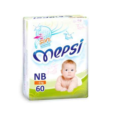 Купить Mepsi Подгузники Mepsi до 6 кг (60 шт) Размер NB
