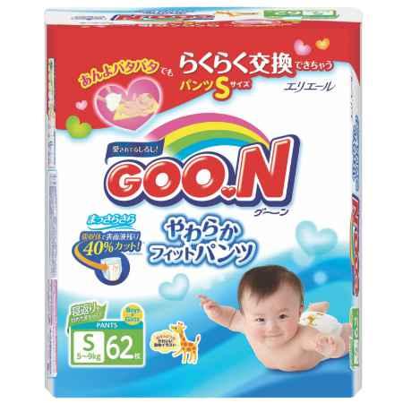 Купить GooN Трусики Goon универсальные 5-9 кг (62 шт) Размер S