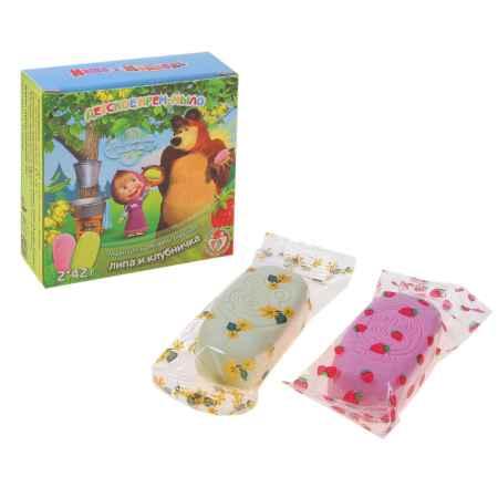 Купить Маша и Медведь (Гигиена и уход) Мыло Маша и Медведь Клубничка и Липовый цвет  2 мыла по 42 гр.