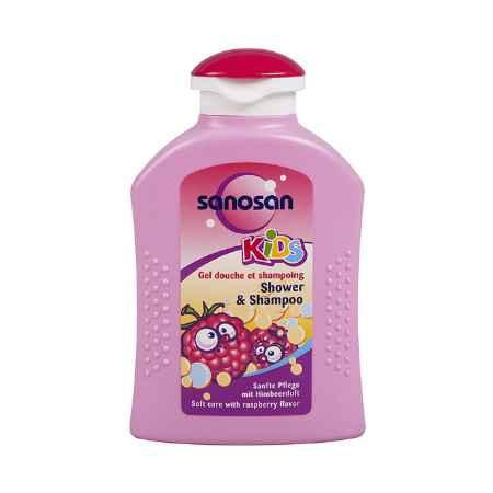 Купить Sanosan Sanosan Baby гель для душа + шампунь с ароматом малины 0,200