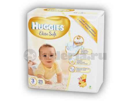 Купить Huggies Подгузники Elite Soft 3, 5-9кг