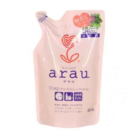 Купить Saraya ( Япония ) Жидкое средство Saraya Arau для мытья посуды 380 мл. (запасной блок)