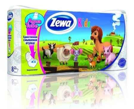 Купить Zewa Делюкс Туалетная бумага 3-х слойная Детская