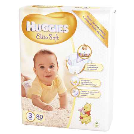Купить Huggies Подгузники Elite Soft Mega 3 (5-9 кг) 80 шт.