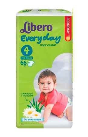 Купить Libero Подгузники EveryDay с ромашкой (7-18 кг) 66 шт.