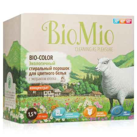 Купить BioMio Экологичный стиральный порошок BioMio 1500 гр. для цветного белья с экстрактом хлопка (концетрат)