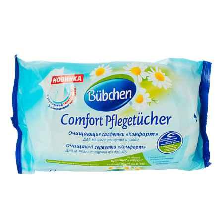 Купить Bubchen Салфетки влажные Bubchen Comfort с экстрактом ромашки (запасной блок) 72 шт