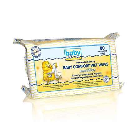 Купить Babyline Салфетки влажные Babyline Comfort Sensitivе для особо чувствительной кожи 80 шт