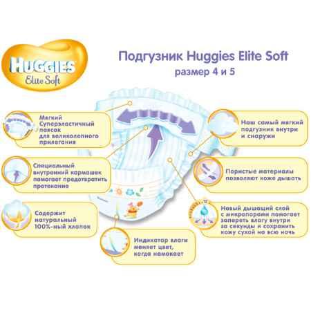 Купить Huggies Подгузники Huggies Elite Soft Box 12-22 кг (112 шт) Размер 5
