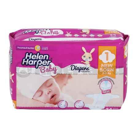 Купить Helen Harper Детские подгузники Baby Newborn 2-5 кг, 24 шт