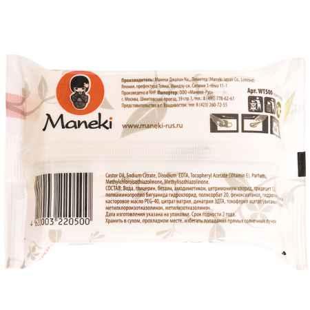 Купить Maneki Салфетки влажные Maneki Kaiteki Для всей семьи с витамином Е и увлажняющим лосьоном 25 шт