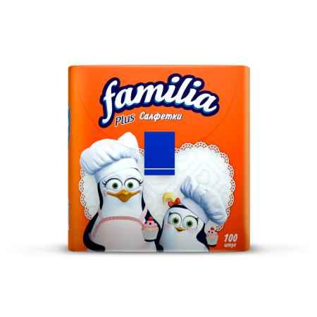 Купить Familia Салфетки Familia Plus 100 шт., белые  30х30 см