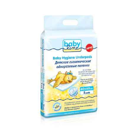 Купить Babyline Пеленки Babyline одноразовые с гелевым абсорбентом 60х60 см (5 шт)