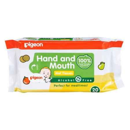 Купить Pigeon Япония Салфетки влажные  Pigeon для сосок, игрушек, фруктов 20 шт