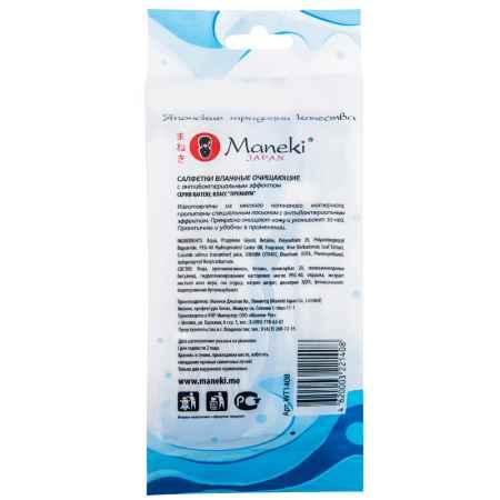 Купить Maneki Салфетки влажные Maneki Kaiteki очищающие с антибактериальным эффектом (в индивидуальной упаковке) 15 шт