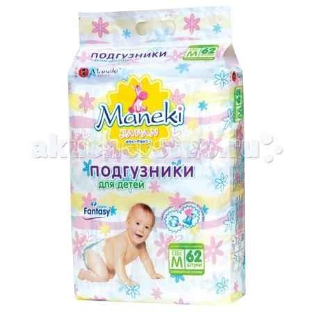 Купить Maneki Подгузники Fantasy M (6-11 кг) 62 шт.