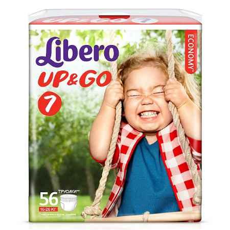Купить Libero Подгузники-трусики Up&Go Giga Pack (16-26 кг) 56 шт.