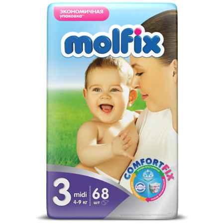 Купить Molfix Подгузники Molfix Midi 4-9 кг. (68 шт.) Размер 3