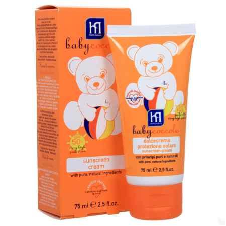 Купить Babycoccole Babycoccole Sunscreen 75 мл Крем солнцезащитный SPF 50  (мягкий)