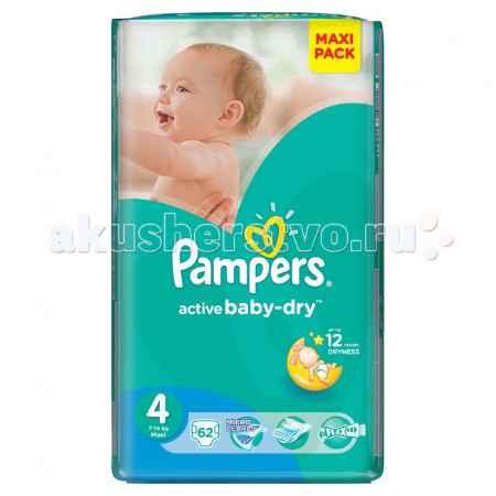 Купить Pampers Подгузники Active Baby Maxi р.4 (7-14 кг) 62 шт.
