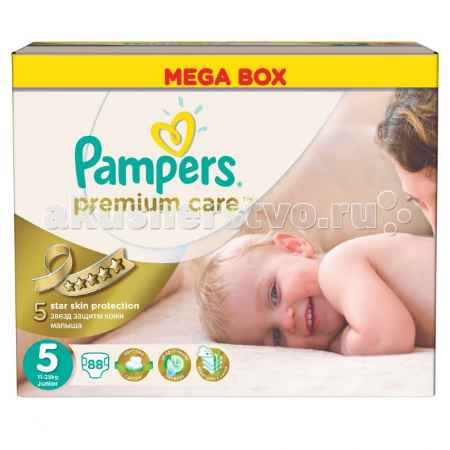 Купить Pampers Подгузники Premium Care Junior р.5 (11-18 кг) 88 шт.