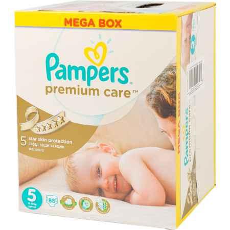 Купить Pampers Подгузники Pampers Premium Care Junior 11-25 кг (88 шт) Размер 5
