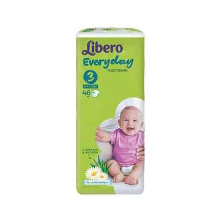 Купить Libero Подгузники Libero Everyday Natural с ромашкой Midi 4-9 кг (46 шт) Размер 3