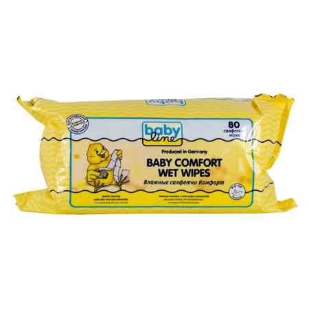 Купить Babyline Салфетки влажные Babyline Comfort с алоэ вера и ромашкой 80 шт