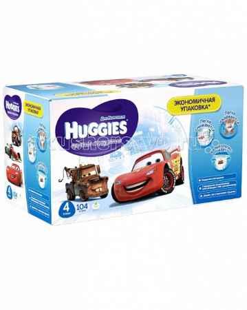 Купить Huggies Подгузники-трусики для мальчиков 4 (9-14 кг) 104 шт.