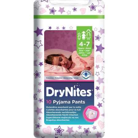 Купить Huggies Трусики Huggies DryNites ночные для девочек 4-7 лет 17-30 кг (10 шт)