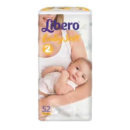 Купить Libero Подгузники Libero Baby Soft Mini 3-6 кг (52) Размер 2